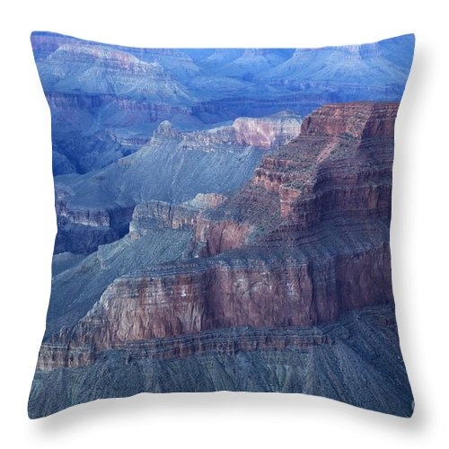 Grand Canyon Throw Pillow featuring the photograph Grand Canyon Grandeur by Bob Christopher