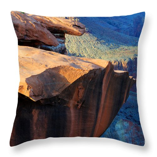 Grand Canyon Throw Pillow featuring the photograph Grand Canyon Into Space by Bob Christopher