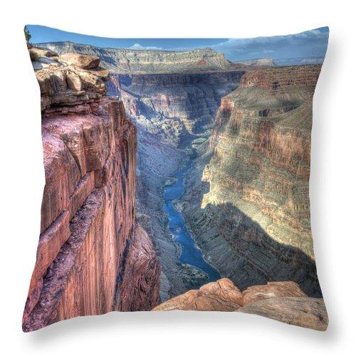 Grand Canyon Throw Pillow featuring the photograph Grand Canyon Toroweap Vista by Bob Christopher