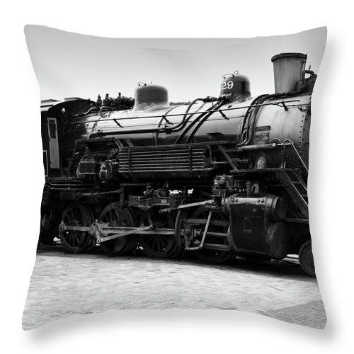 Train Throw Pillow featuring the photograph Grand Canyon Train by Ricky Barnard