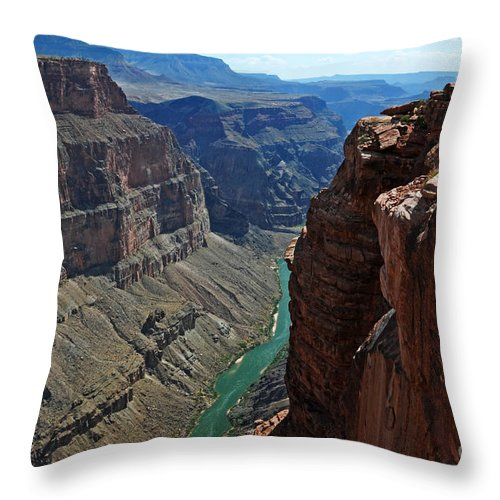 Grand Canyon Throw Pillow featuring the photograph Grand Canyon View by Vivian Christopher