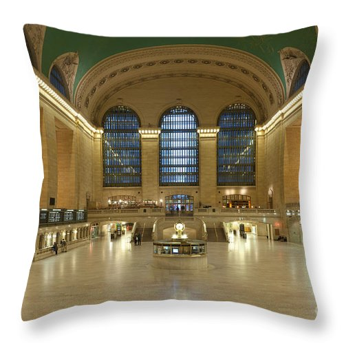 Clarence Holmes.america Throw Pillow featuring the photograph Grand Central Terminal I by Clarence Holmes