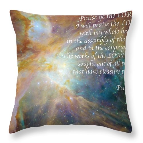 Space Throw Pillow featuring the photograph Great Are His Works by Michael Peychich