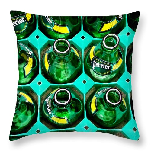 Perrier Throw Pillow featuring the photograph Green by Newel Hunter