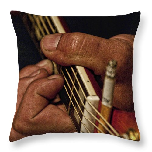 Music Throw Pillow featuring the photograph Gritty by Sheri Bartoszek