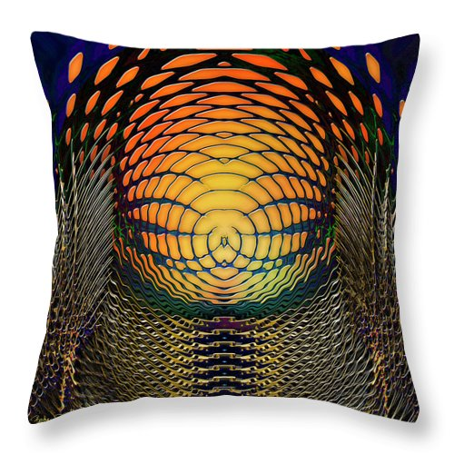 Light Throw Pillow featuring the digital art Guardians Of The Light Within by Barbara Berney