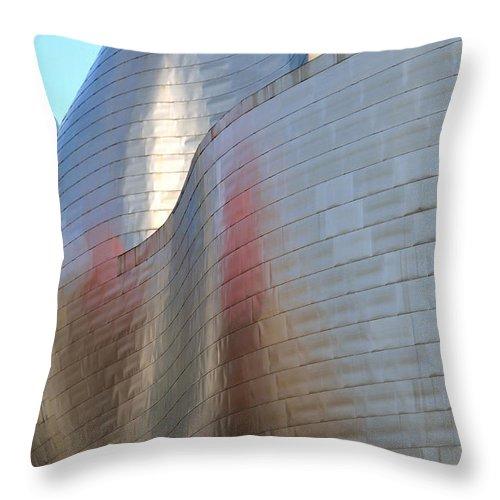 Guggenheim Throw Pillow featuring the photograph Guggenheim Museum Bilbao - 2 by RicardMN Photography
