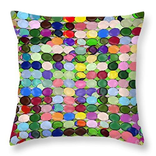 Ebsq Throw Pillow featuring the digital art Gum Balls by Dee Flouton