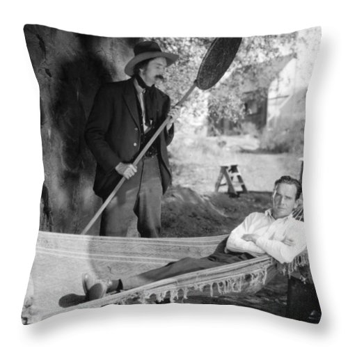 1925 Throw Pillow featuring the photograph Hammock, 1925 by Granger