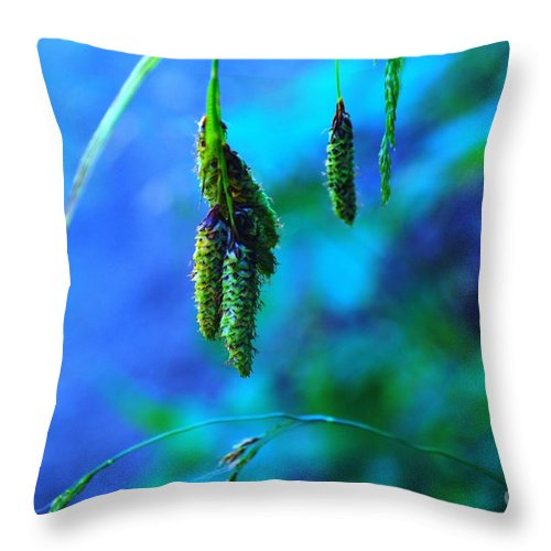Seeds Throw Pillow featuring the photograph Hanging Green by Jeff Swan