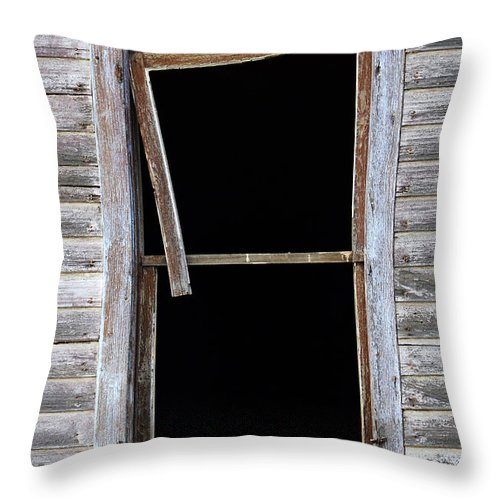 Window Throw Pillow featuring the photograph Hanging Loose by Bob Christopher
