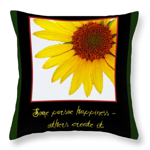 Happiness Throw Pillow featuring the digital art Happiness by Tina Meador