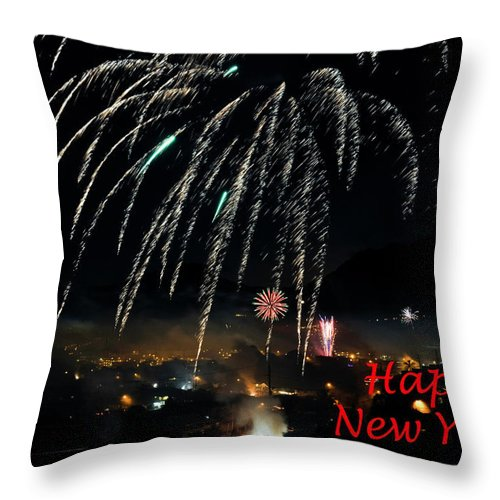 Hawaii Throw Pillow featuring the photograph Happy New Year Card by Dan McManus