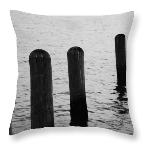 Pamlico Sound Throw Pillow featuring the photograph Harbor Ties by Tony Cooper