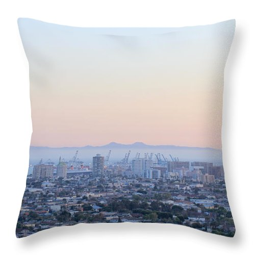 Harbor Throw Pillow featuring the photograph Harbor View II by Heidi Smith