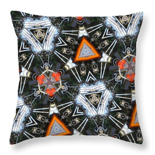 Bike Throw Pillow featuring the photograph Harley Art 1 by Joyce Dickens