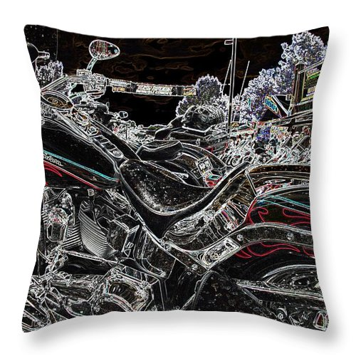 Harley Davidson Throw Pillow featuring the photograph Harley Davidson Style 3 by Anthony Wilkening