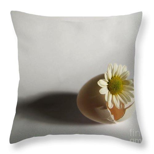 Artoffoxvox Throw Pillow featuring the photograph Hatching Flower Photograph by Kristen Fox