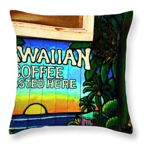 Hawaii Throw Pillow featuring the photograph Hawaiian Coffee by Bob Christopher