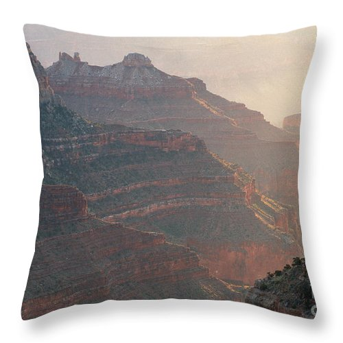 Bronstein Throw Pillow featuring the photograph Haze And Last Light by Sandra Bronstein