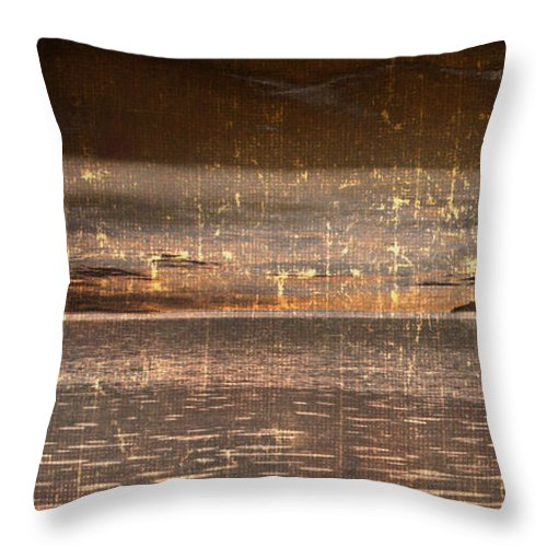 Boat Throw Pillow featuring the photograph Heading Home by Gray Artus