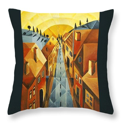 House Throw Pillow featuring the painting Heading Home by Tiffany Budd