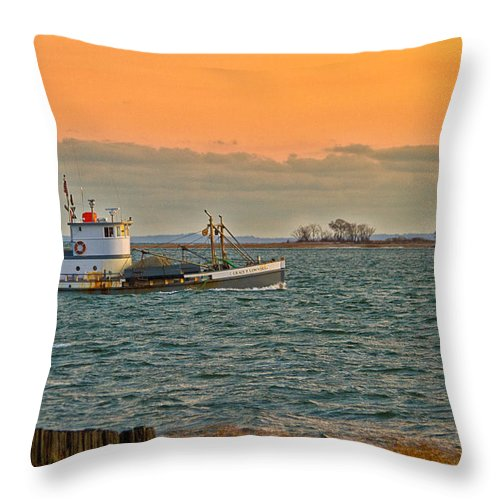 Coastal Throw Pillow featuring the photograph Heading In by Karol Livote