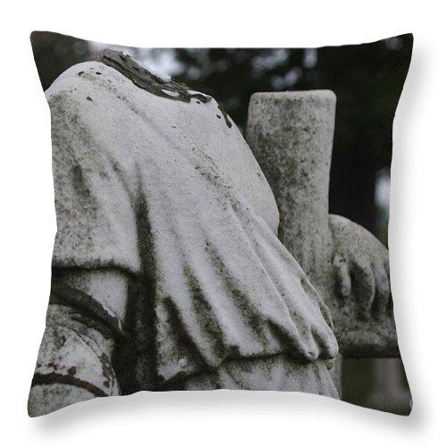 Headless Throw Pillow featuring the photograph Headless Shepherd by J M Lister