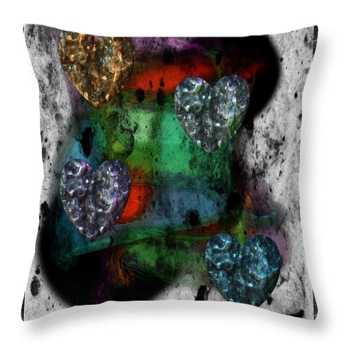 Heart Throw Pillow featuring the digital art Heartistry Seven by Michael Hurwitz