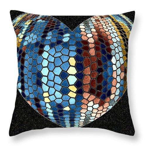Heart Throw Pillow featuring the digital art Heartline 4 by Will Borden