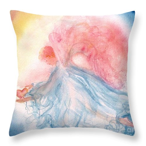 Angel Throw Pillow featuring the painting Heavenly Love by Marilyn Smith