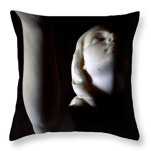 Nude Girl Throw Pillow featuring the photograph Heavenly Outreach by Jeff Lowe