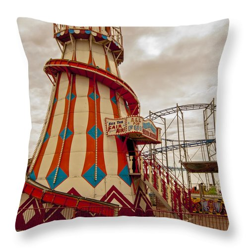 Beach Throw Pillow featuring the photograph Helter Skelter by Dawn OConnor