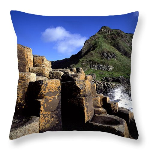 Photography Throw Pillow featuring the photograph Hexagonal Columns At The Giants by Chris Hill