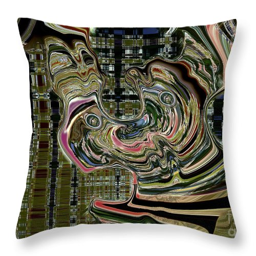 Quirky Throw Pillow featuring the digital art Hey Mabel I Think We Missed The Ark by Tom Hubbard