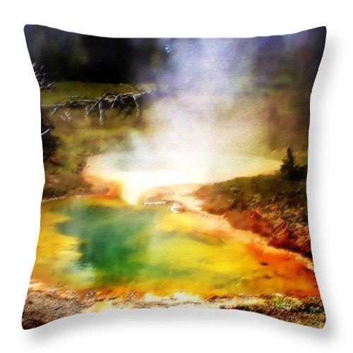Landscape Throw Pillow featuring the photograph Hidden Gem by Ellen Heaverlo