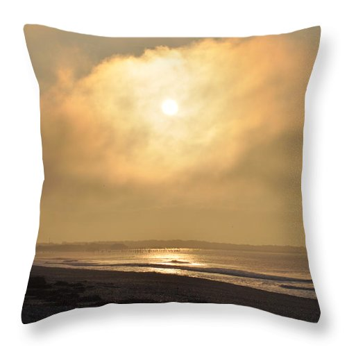 Beach Throw Pillow featuring the photograph Hide Away The Sun by Bill Cannon