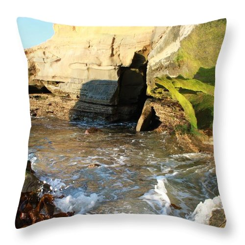 Ocean Throw Pillow featuring the photograph Hideaway by Caroline Lomeli
