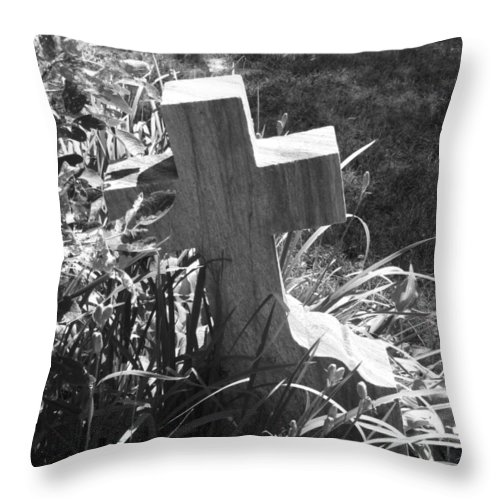 Cross Throw Pillow featuring the photograph Hiding by Michele Nelson