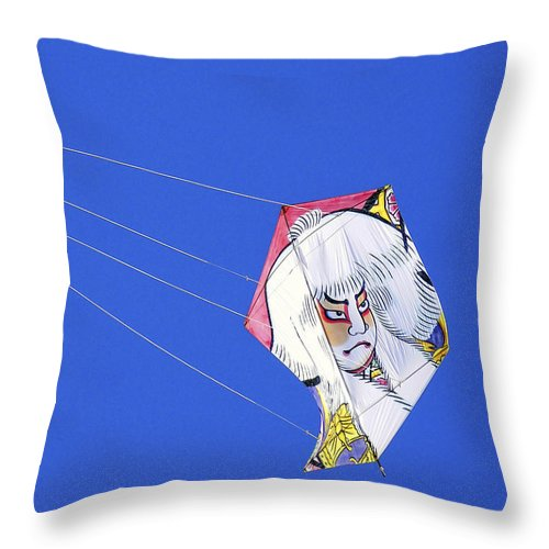 Japan Throw Pillow featuring the photograph High Flying Character by Pamela Patch