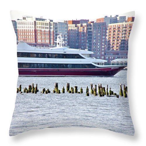 The High Line Throw Pillow featuring the photograph High Line Print 42 by Terry Wallace