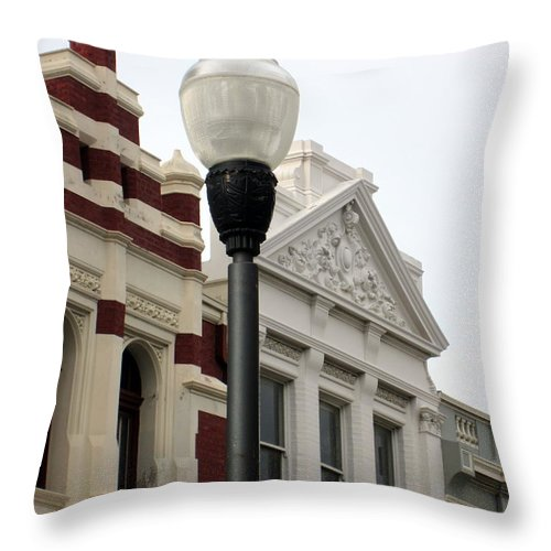 Fremantle Throw Pillow featuring the photograph High Street Fremantle by Roberto Gagliardi
