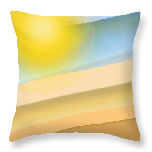 Abstract Throw Pillow featuring the digital art Hill Country by Ian MacDonald