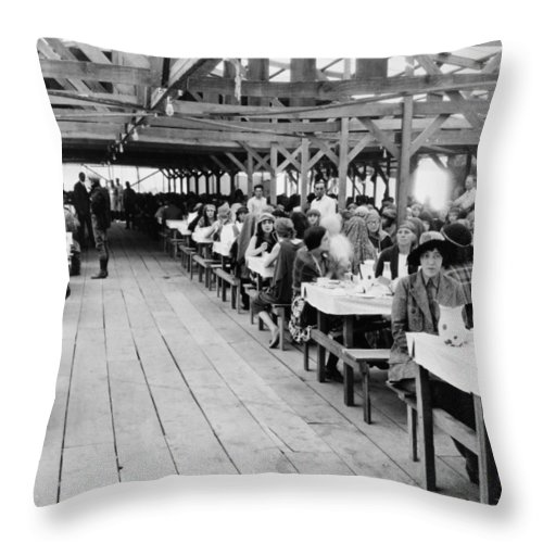 1920s Throw Pillow featuring the photograph Hollywood Studio, 1923 by Granger