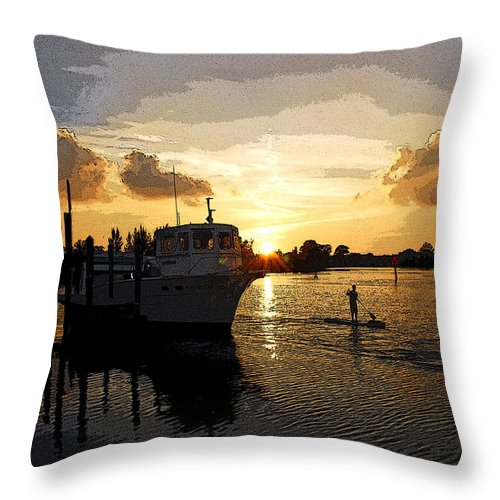 Poster Throw Pillow featuring the photograph Home Before The Night by G Adam Orosco