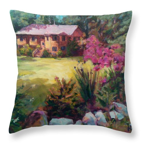 House Throw Pillow featuring the painting Home Sweet Home by Nanci Cook