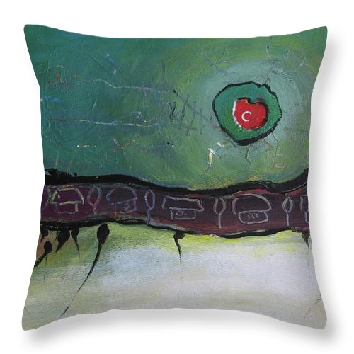 Homesick Paitnings Throw Pillow featuring the painting Homesick by Seon-Jeong Kim
