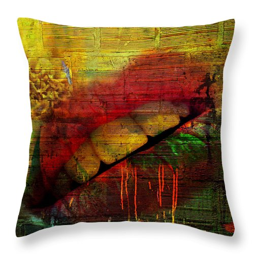 Jerry Cordeiro Throw Pillow featuring the photograph Honey Drip by The Artist Project