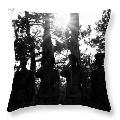 Air Throw Pillow featuring the photograph Honor Thy Country by Colleen Coccia