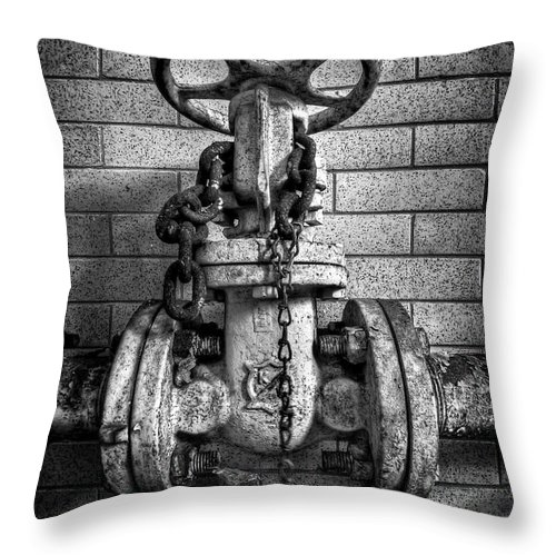 Metal Throw Pillow featuring the photograph Hooked On Metal by Evelina Kremsdorf